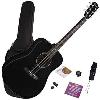 Fender Westerngitarre CD60 Starter Pack, black