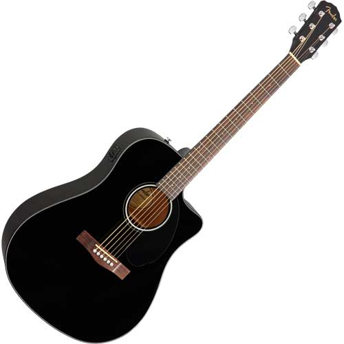 Fender Westerngitarre CD60 SCE, black