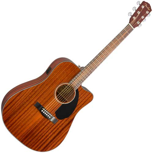 Fender Westerngitarre CD60 SCE, All Mahagony