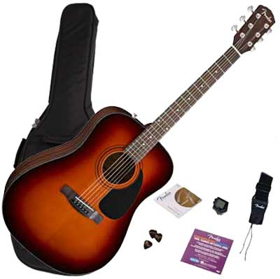Fender Westerngitarre CD-60 Starter Pack sunburst